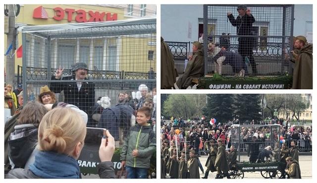 Театральный перформанс на параде Победы в Нижнем Тагиле (6 фото)
