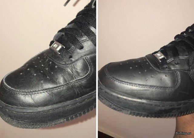 Самый простой способ разгладить складки на обуви (6 фото)