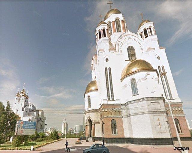 О строительстве нового храма в сквере в Екатеринбурге (2 фото)