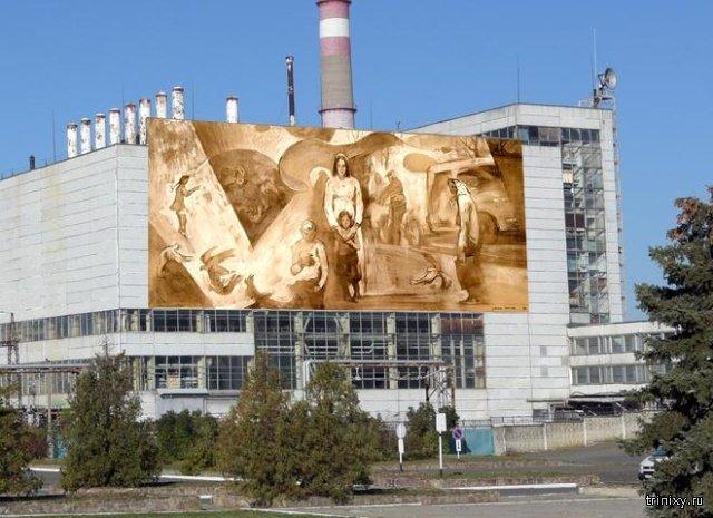 На стене машинного зала Чернобыльской АЭС появится граффити. Пользователи сети выбирают эскизы (12 фото)