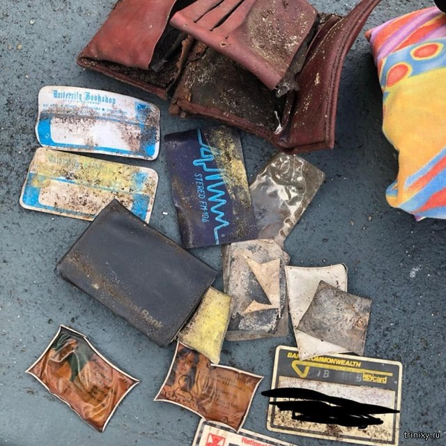 Австралийка нашла в парке кошелек, который был потерян 40 лет назад (4 фото)