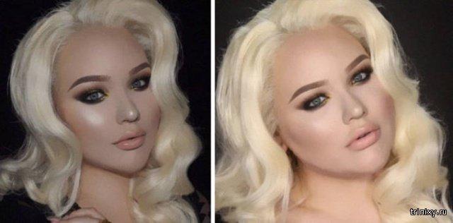 Что кроется за макияжем и фильтрами в Instagram (25 фото)