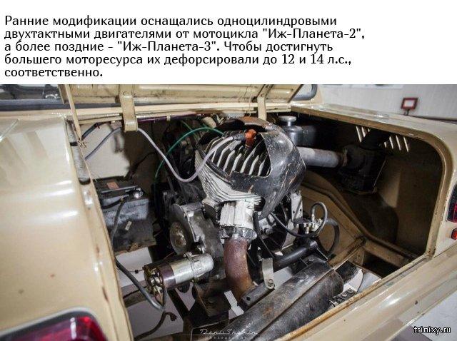 Мотоколяска СМЗ С-3Д с пробегом всего в 189 километров (8 фото)