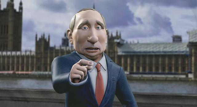 Путин будет ведущим вечернего комедийного шоу. Но только мультяшный и в Великобритании (3 фото + видео)