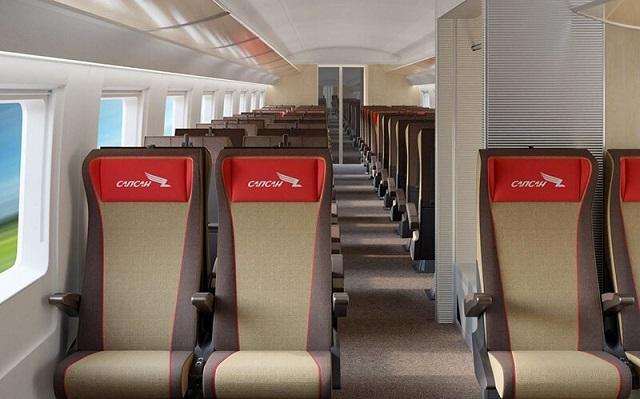 """Стало известно, как будет выглядеть новый интерьер высокоскоростного поезда """"Сапсан"""" (5 фото)"""