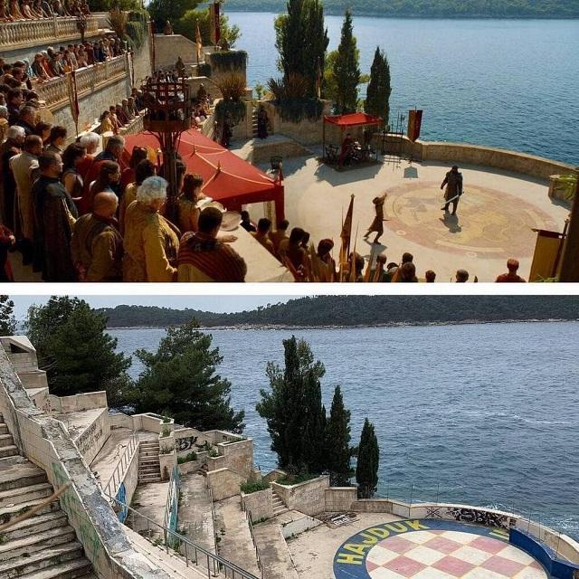 """Как выглядят локации """"Игры престолов"""" на съёмках и в реальной жизни (20 фото)"""