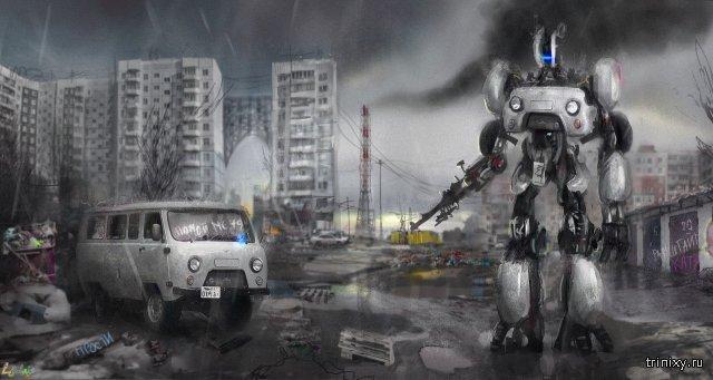 """Необычный арт-проект """"Lustration(!)22"""" от художника из Читы (8 фото)"""