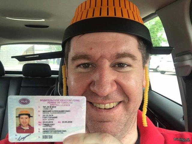 Необычное фото для водительского удостоверения (фото)