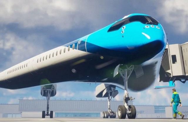 Лайнер Flying-V - будущее пассажирских самолетов (10 фото + видео)
