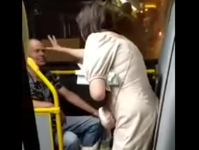 Не трогай собаку! В автобусе женщине не разрешили погладить собаку и она разразилась демоническими проклятиями