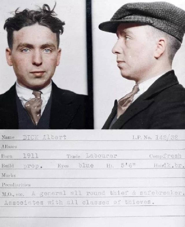 Ирландский художник колоризировал старые снимки британских преступников 1920-30-х годов (9 фото)