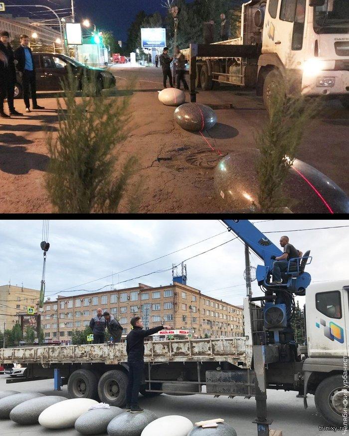 Челябинец сделал тротуар для пешеходов в центре города (6 фото)