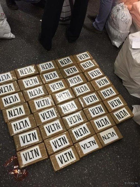 В порту Санкт-Петербурга была обнаружена крупная партия наркотиков из Эквадора (4 фото)