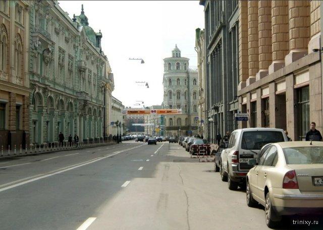 Москва XIX века и виды столицы времен Юрия Лужкова (16 фото)