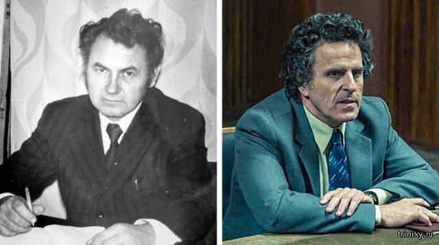 """Внешность настоящих людей по сравнению с внешностью персонажей сериала """"Чернобыль"""" (13 фото)"""