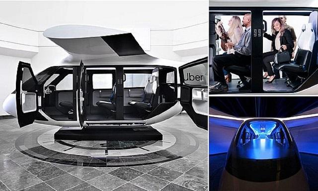 Компания Uber показала будущим клиентам летающее такси (10 фото)
