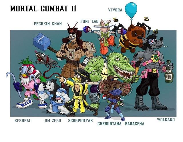 Российский художник соединил героев советских мультиков и персонажей Mortal Kombat 11 (10 картинок)