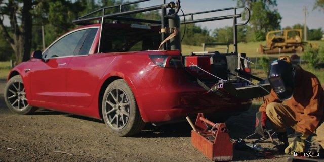 Поскольку Tesla пока не производит пикапы, изобретательница из Швеции решила взять дело в свои руки (10 фото)