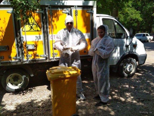 В Симферополе нашли 2 отрезанные головы крокодилов (5 фото)