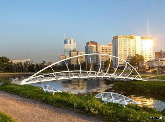 Ожидание и реальность. Ремонт моста в Минске (5 фото)