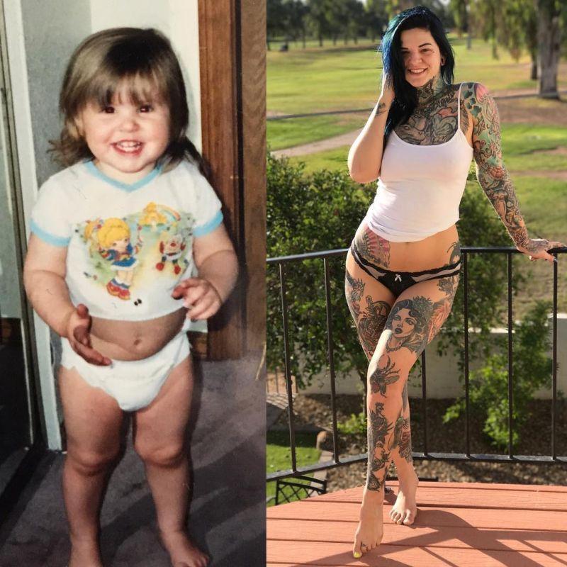 Девушка нанесла на свое тело более 40 татуировок, идеями для которых послужили фильмы (17 фото)