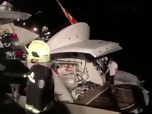 В Испании загорелась яхта с Кличко-младшим на борту