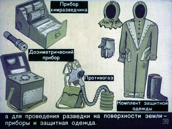 Диафильм 1970 года для школьников. Как выжить в условиях ядерной войны (39 фото)