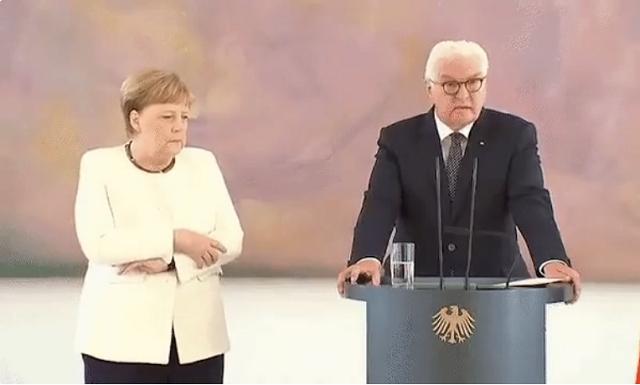 """Ангела Меркель снова """"затряслась"""". На этот раз с президентом Германии Штайнмайером (видео)"""