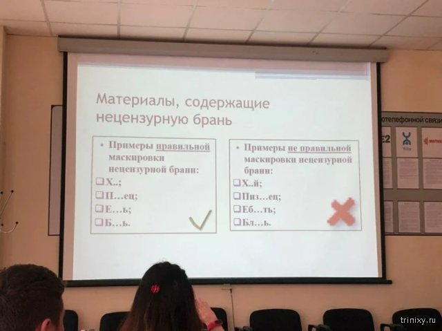 Роскомнадзор показал, как можно ругаться в сети (фото)