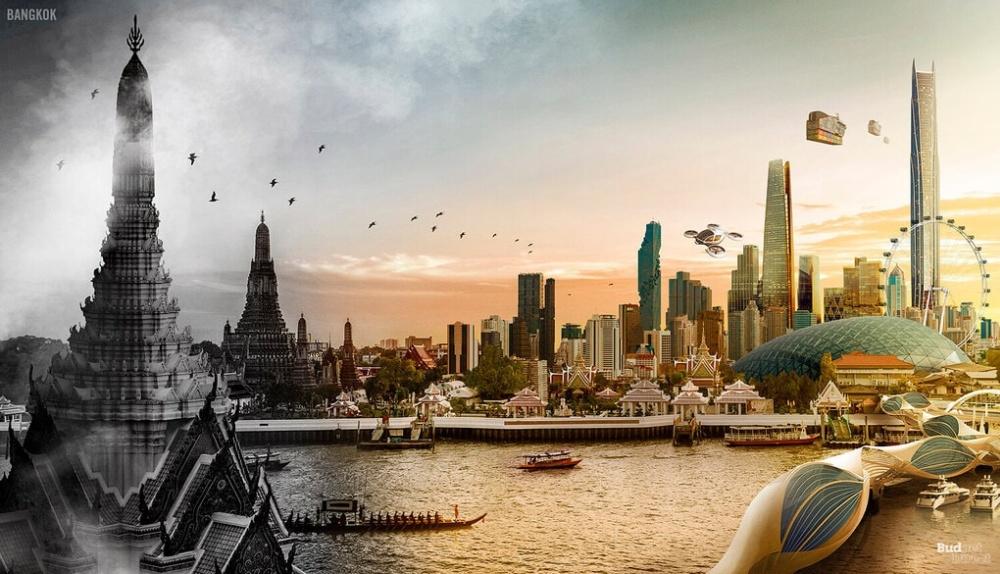 картинки город в прошлом настоящем будущем времени всеми