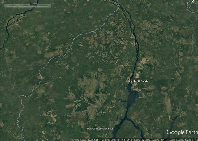 Вырубка лесов наглядно в районе Усть-Илимска (3 фото)