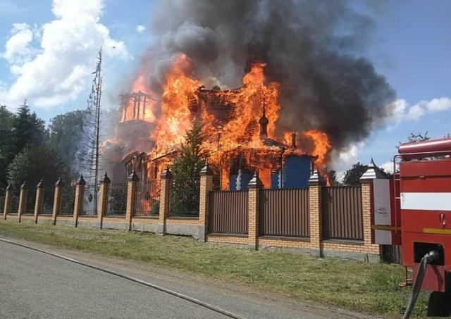 Сгорел Свято-Казанский Чимеевский мужской монастырь (5 фото + видео)