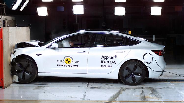 Tesla Model 3 установила новый рекорд по стандартам краш-тестов Euro NCAP (фото + видео)
