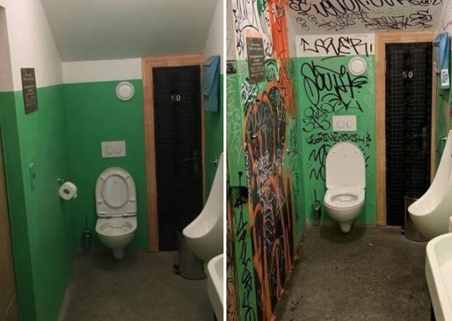 Туалет в Новороссийске в стиле подъезда спустя месяц (2 фото)