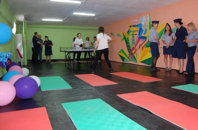 В женской колонии в Новосибирске открыли фитнес зал (4 фото)