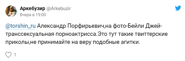 Бывший сенатор Александр Торшин похвалил в соцсети порноактрису-транссексуала (3 фото + 8 скриншотов)