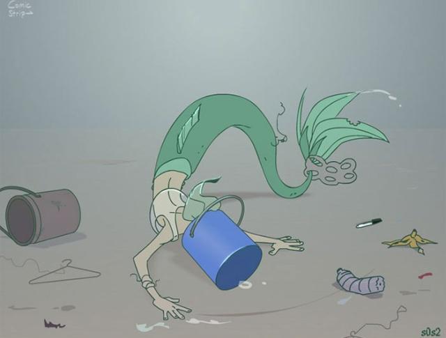 Серьезная проблема в недетском комиксе про Русалочку (33 фото)