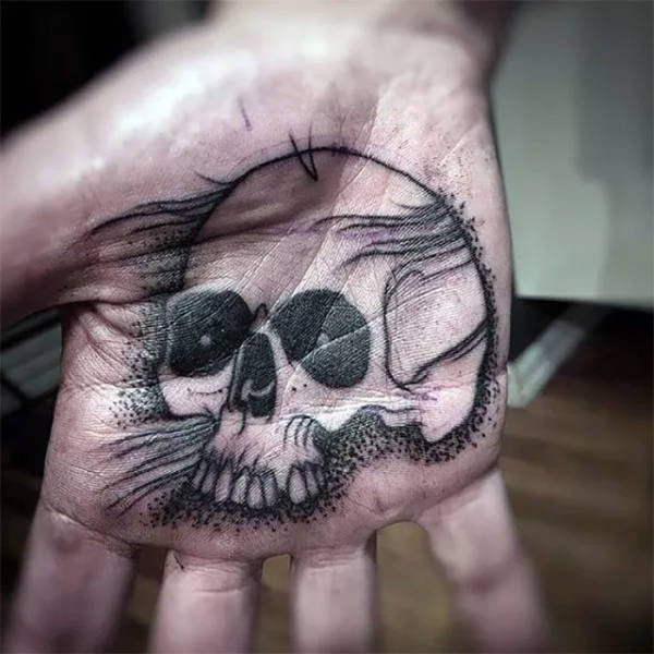 Татуировки на ладонях (60 фото)
