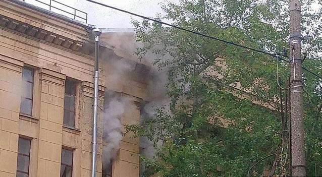 В Москве произошел пожар в Государственном архиве литературы и искусства