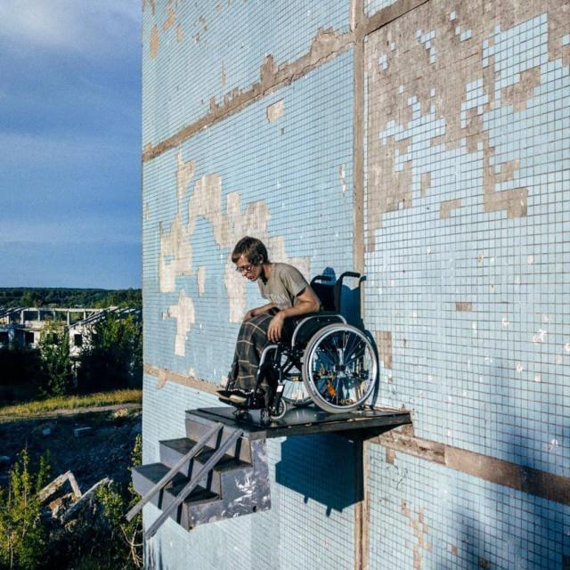 "Самарский художник и лестница ""в никуда"" (4 фото)"