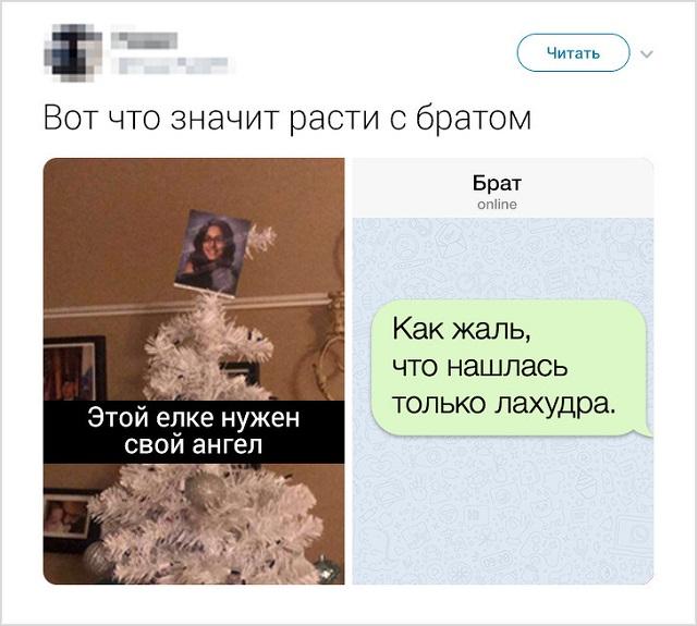 Забавные твиты о конфликтах братьев и сестер (17 скриншотов)
