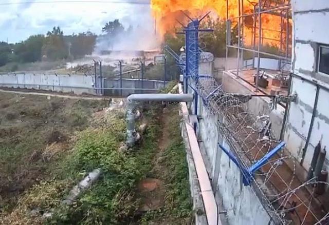 Момент взрыва на ТЭЦ в Мытищах