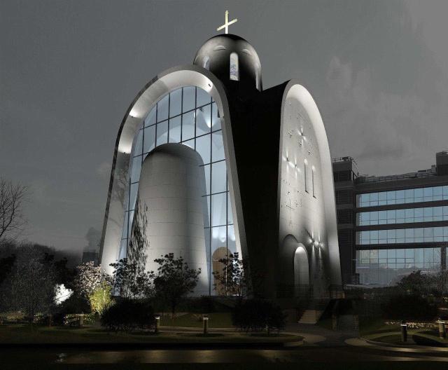 Проект храма священномученика Игнатия Богоносца в Москве (4 фото)