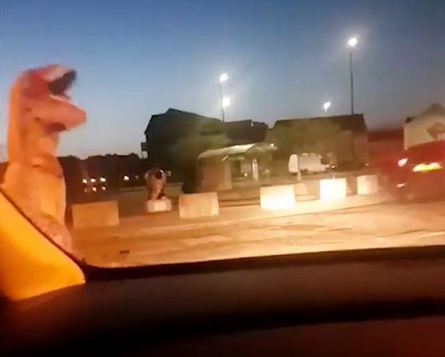 """Полиция преследует """"динозавра"""""""