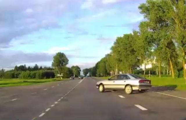 Повезло, что не оказалось встречных автомобилей на пути