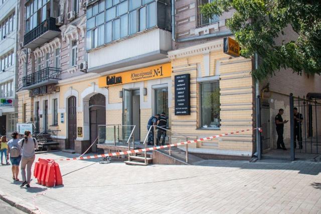 Попытка ограбления ювелирного магазина в Киеве (2 фото + видео)