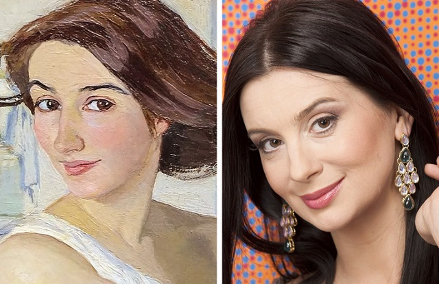 Российские знаменитости и их близнецы на старинных картинах (20 фото)
