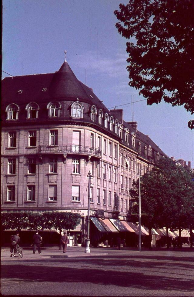 Редкие цветные фотографии  послевоенного Люксембурга 1947 года (11 фото)