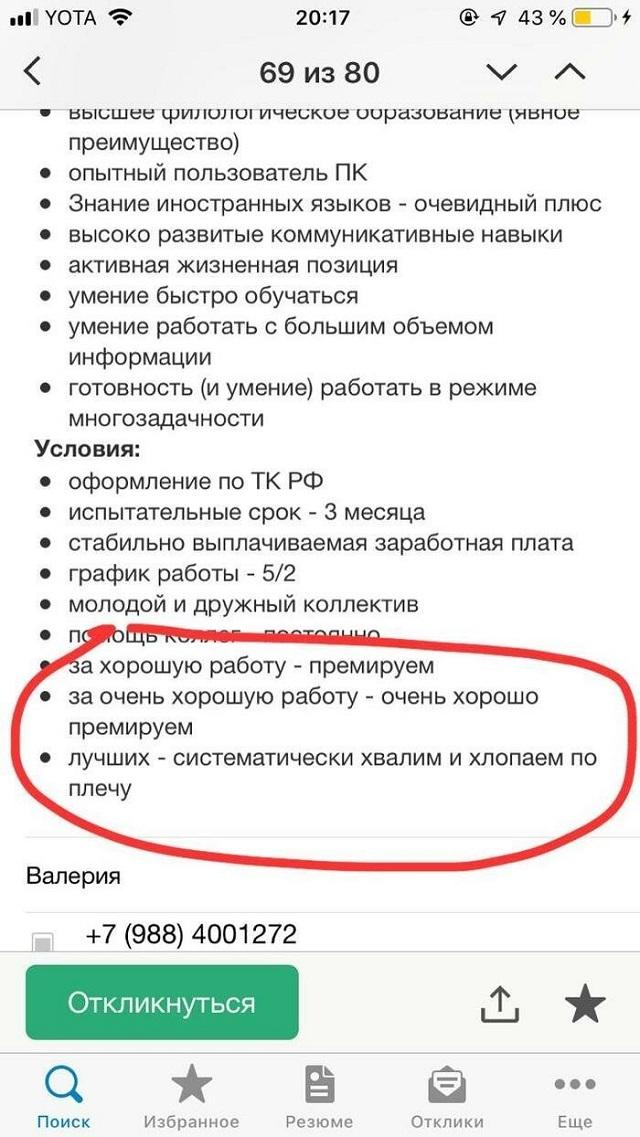 Подборка смешных вакансий (21 скриншот)