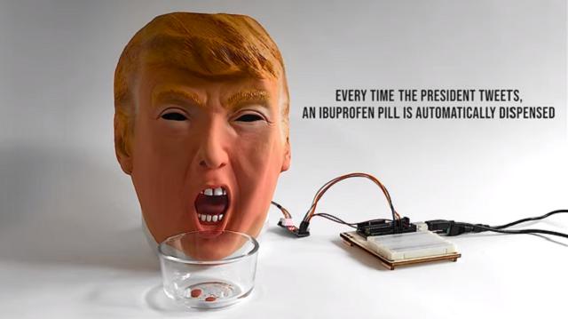 Программист из США создал робота в виде головы Дональда Трампа